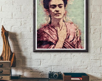 8x10 Frida Kahlo Art Print, Frida Kahlo Poster, PRINTABLE Home decor, Modern Wall Art, Best Selling Items, Pop Culture Poster, Affiche Frida