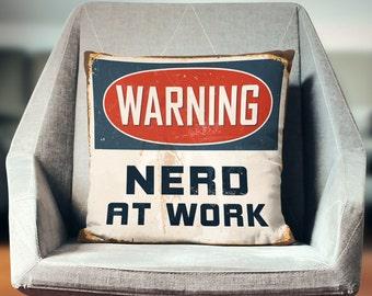 Nerd Gift | Nerd Decor | Nerd Pillow Case | Geek Gift | Throw Pillow | Pillow Case | Pillowcase | Home Decor | Art | Print