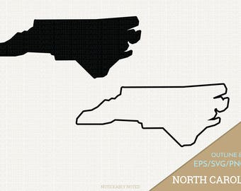 North Carolina Vector, State Clipart, NC Clip Art, North Carolina SVG, State PNG  (Design 13724)