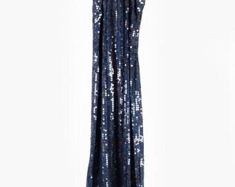 Beautiful vintage blue sequin long dress