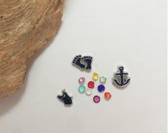 Beachy Ocean Mix Floating Charms for Memory Lockets
