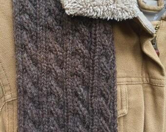 Rustic wool scarf