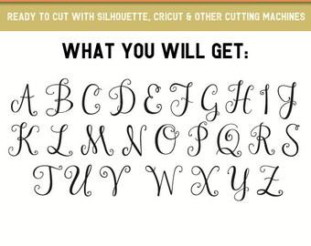 Cute Font svg,Monogram Fonts,Monogram SVG,Font Svg,Monogram Fonts for Cricut,Svg Fonts for Cricut,Alphabet svg,Cursive Font svg,Letter font