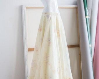 Maxi Skirt | Long Skirt | Boho Skirt | Yellow Chiffon Skirt | Bohemian Skirt | Summer Skirt | Floor Length Skirt  |