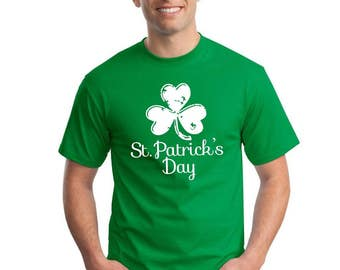 St Patrick's Day Ireland Shamrock T Shirt Irish TShirt Vintage Man's Top Beer Paddy's Day T-Shirt