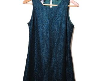 90s Lace Dress / Lace Dress / Lace Mini Dress / 1990s Grunge Mini Dress