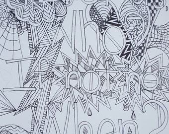 Coloring Page If not us, who, if not now, when? black and white