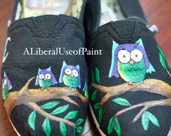 Owl - Hand Painted Toms