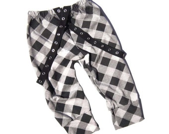 Boys Checkered Leggings, Black and Gray Leggings, Checkered Pants, Boys Clothes, Baby Clothes, Kids Clothes