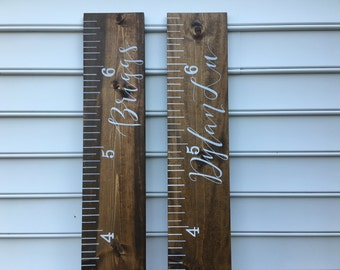 Customizable, Hand Painted Ruler Growth Chart