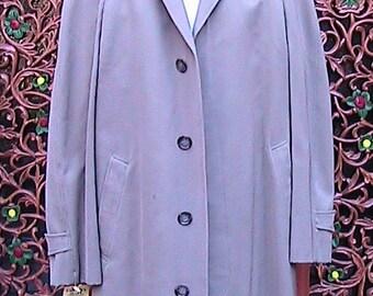 40/42 Vintage 50s Brooks Brothers Raglan Sleeve Gaberdine Overcoat MLGC002