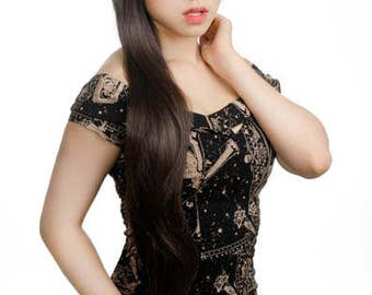 Mio -  40'' Wig Long Straight Cut w/ Short Bangs