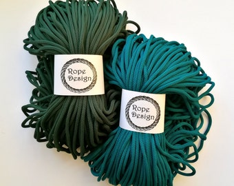 Macrame cord Textile rope 6 mm Chunky colored cord Polyester rope Cotton macrame rope Cord 100 m Nylon soft rope Handmade project