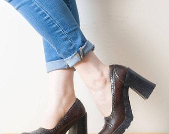 90s Vintage American Eagle Chunky Heels