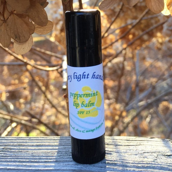 Organic Lip Balm with Essential oils in chakra balancing blends for relaxing or invigorating