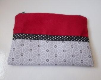 Make-up cotton red suede grey black polka dot Ribbon