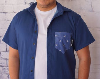 Shirt Zazou, uni or birds