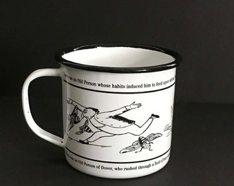 Vintage Edward Lear Mug , Edward Lear Mug , Royal Academy of Arts, London, Limerick, Poetry, Funny, Illustrations, Literature , Gift