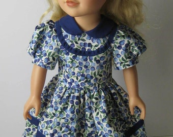 """Journey Girls 18"""" Doll Blueberry Dress and Blue Shoes"""
