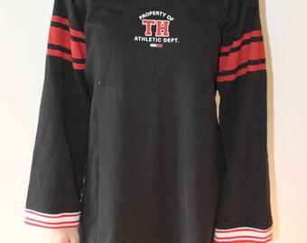 Tommy Hilfiger cotton lace up logo dress size M