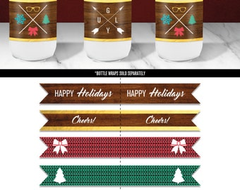 Straw Flags // Ugly Sweater Party Printable Decorations // Tacky Sweater Party // Christmas Party // Holiday party // Instant Download
