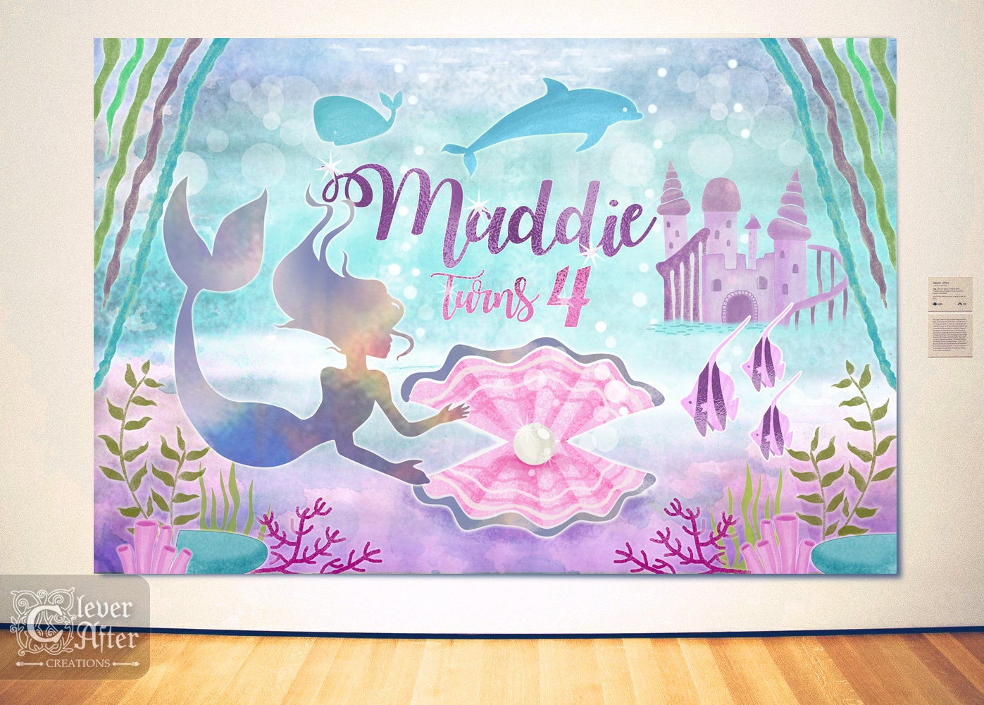Mermaid Backdrop Under The Sea Kingdom Background Little