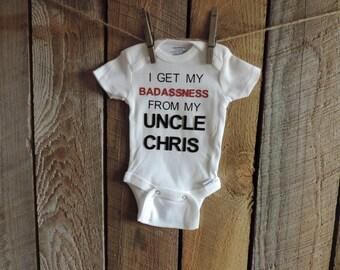Badassness Onesie | Funny Onesie | Badass Aunt or Uncle