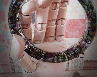 Lavender and Amethyst bracelet