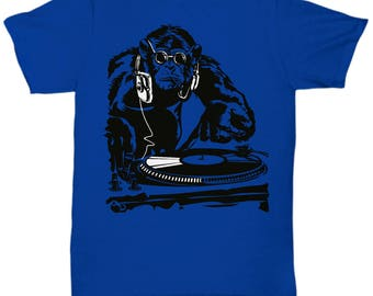 Monkey DJ Music Club Party Shirt Tee T-shirt  S - 5XL   6 Colours
