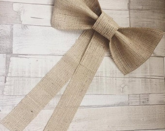 Church Decor; Hessian Bows; Church Decoration; Pew End Decorations; Burlap Bows; Burlap Church Decor;  Rustic Wedding Decor; Hessian Wedding