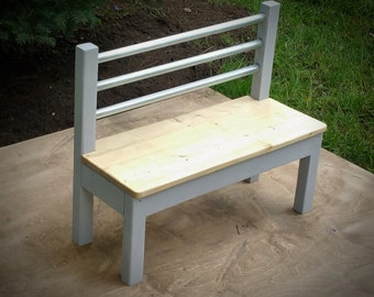 Kids Bench / Handmade / Chair / Child's / TIme Out /