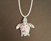 Reserved for yeaka. Hand sculpted  turtle | Soft romantic pink sea turtle