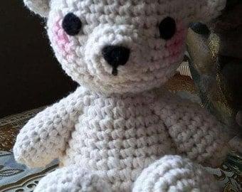 Amigurumi Blushing Bear-Shiro-