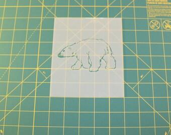 Polar Bear Stencil - Reusable DIY Craft Stencils of a Polar Bear