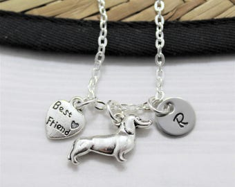 Dachshund Jewelry - Dachshund Gifts - Dachshund Necklace - I Love My Dachshund - Dog Lover Gift