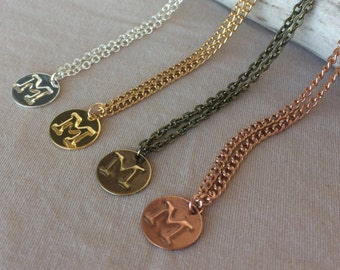 Custom Initial Necklace - Custom Letter Necklace - Personalized Initial Necklace - Custom Number Necklace - Personalized Number Necklace