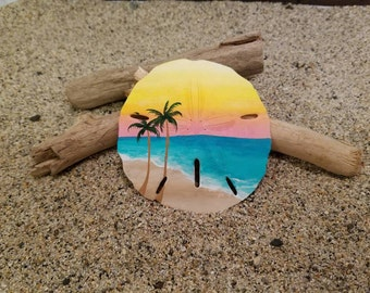 Turquoise waters sand dollar ornament