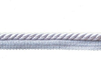 Silver Grey Flange Cord, 8 mm