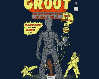 The Incredible Groot T-shirt / Guardians of the Galaxy Tee / Groot & Rocket Raccoon /  Incredible hulk mash up /Free Shipping worldwide