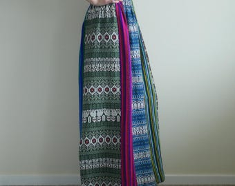 Ethnic Boho Blanket Maxi Skirt