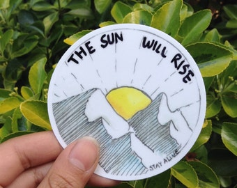 The Sun Will Rise vinyl/laptop sticker // twenty one pilots, laptop sticker, vinyl sticker, Twenty One Pilots, Truce Sticker, Vessel