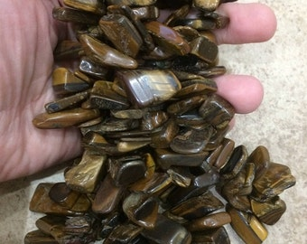 "15"" Strand Gigantic Unpolished Tiger Eye"