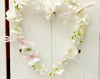 Flowers heart * hydrangea * festive