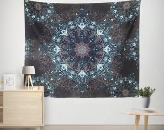 Boho Tapestry,Bohemian Tapestry,Mandala Tapestry,Wall Decor,Hippie Tapestry,Indian Tapestry,mandala wall hanging,Gray Tapestry