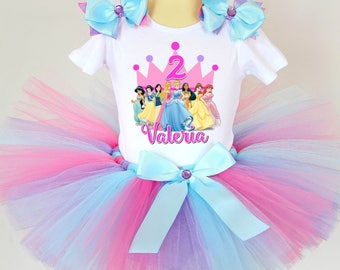 Disney Princess Birthday Outfit - 1st, 2nd, 3rd, 4th, 5th Birthday Princess Outfit - Princess Party Outfit - Birthday Tutu Outfit - Tutu
