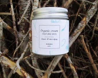 Regenerating organic cream & night anti-aging - mature skin