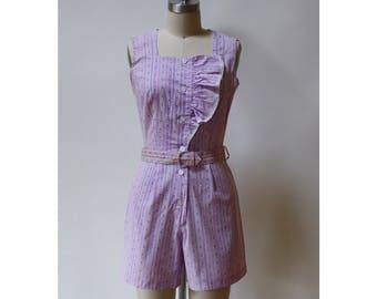 Vintage 1930s Lavender Playsuit XS