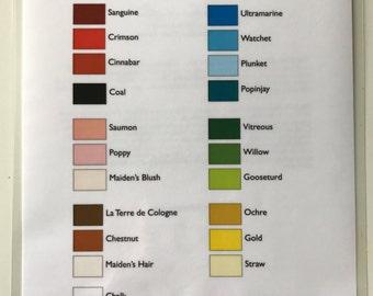 Elizabethan Color Palette