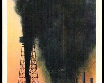 Oil Gusher Oklahoma Postcard Oklahoma City OK PC