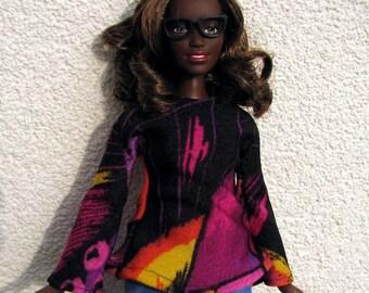 Handmade shirt for Curvy Barbie